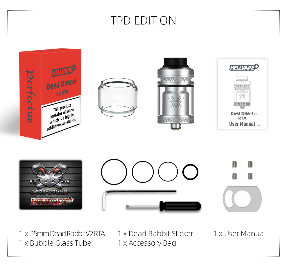 hellvape dead rabbit v2 rta - TPD package